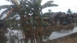 Kurau Tanah Laut Kebanjiran, Semoga Dangsanak Kita Aman Dan Selamat