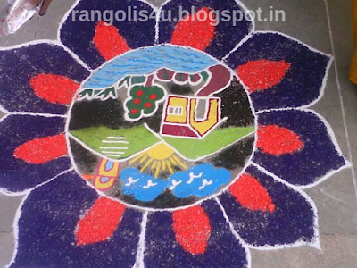 creative rangolis for kids