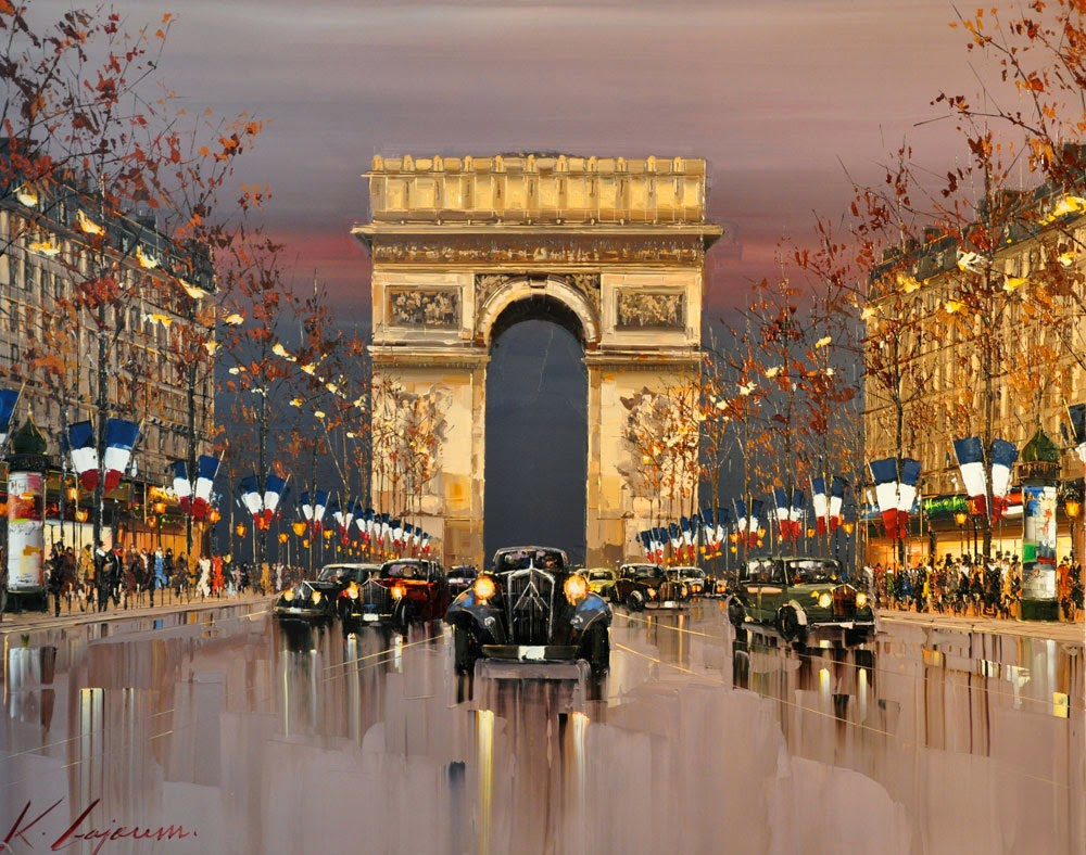 29-Quatorze-Juillet-Kal-Gajoum-Paintings-of-Dream-Like Cities-of-the-World-www-designstack-co