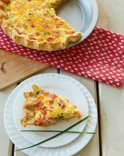 Easy ham and cheese quiche 3