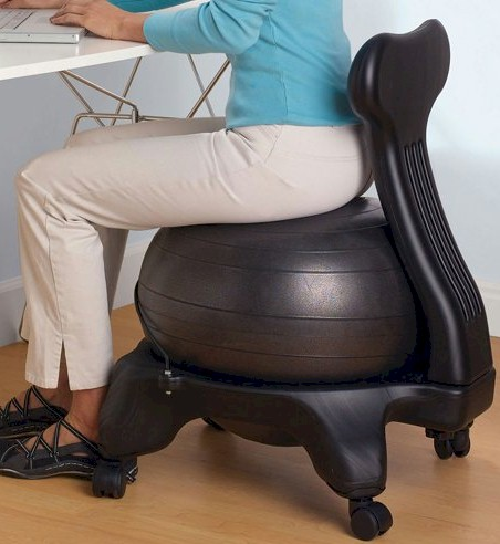 ball chair amazon ikea wicker chairs daily cheapskate the gaiam balance deal is back on today 1 3 18 only get for 54 98 normally 79