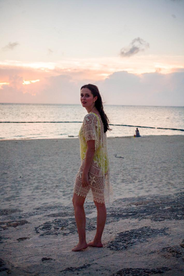 Araha beach sunset