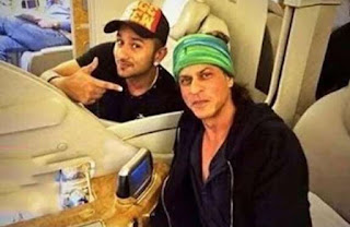 SRK on a flight on his private jet