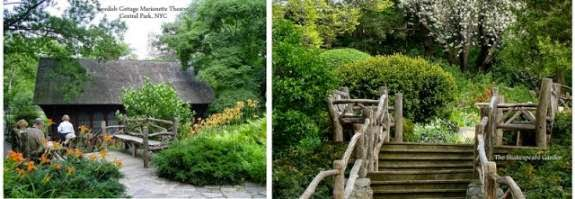 Shakespeare Gardens n Swedish Cottage by Central Park Bicycles NYC