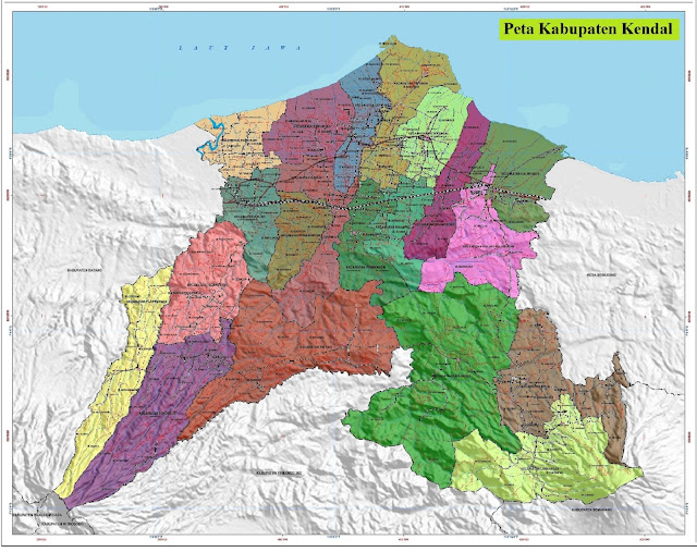 Peta Kabupaten Kendal