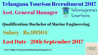 Telangana Tourism Recruitment 2017