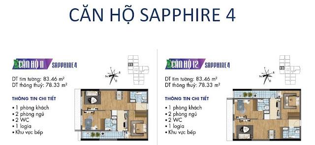 Căn hộ số 11, 12 tòa Sapphire 4- Goldmark City