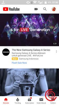 Untuk merubah lokasi Negara video YouTube dan Trending YouTube dari Indonesia ke Negara lain seperti Inggris dan Jepang silakan kalian buka aplikasi Youtubenya setelah itu klik pada logo profil akun kita