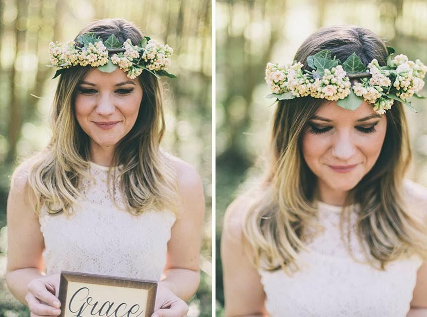 e-session - ensaio noivos - ensaio casal - ensaio ao ar livre - e-session ao ar livre - noiva - coroa de flores - quadrinho fofo