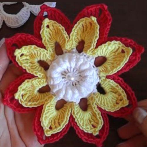 How to crochet Flower 3D -  Tutorial