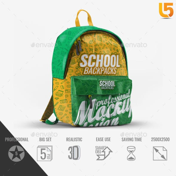 Free duffle bag mockup to showcase your design in a photorealistic style. School Bag Mockup Free Download Download Free And Premium Psd Mockup Templates And Design Assets
