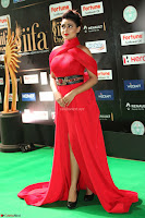 Apoorva in a Stunning Tight Leg Split Sleeveless Red Gown at IIFA Utsavam Awards 63.JPG