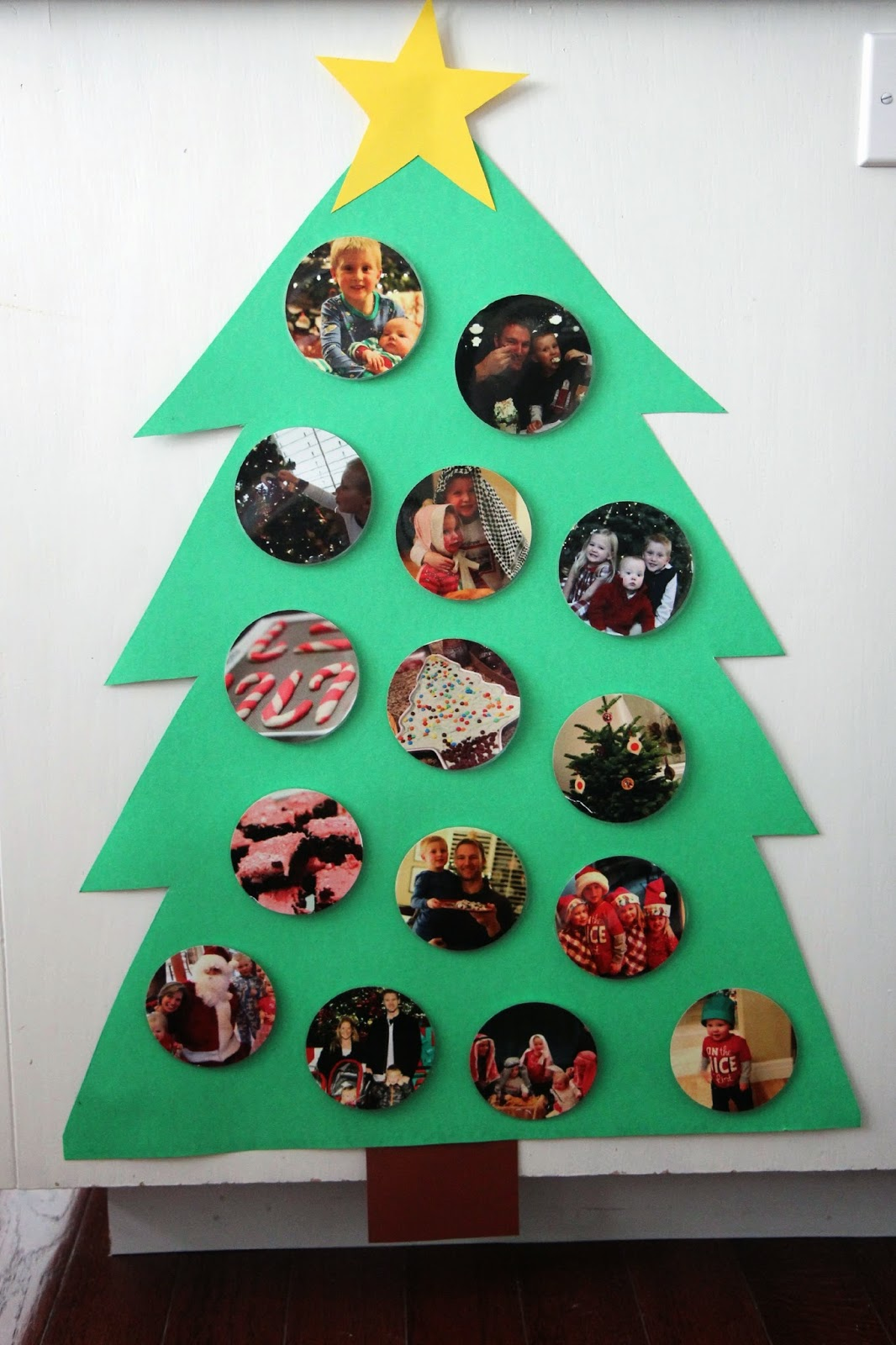 Weihnachtsbasteln Krippenkinder Toddler Approved Build A Photo Christmas Tree For Babies