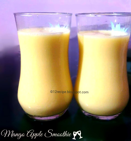 how to make mango smoothie with ice