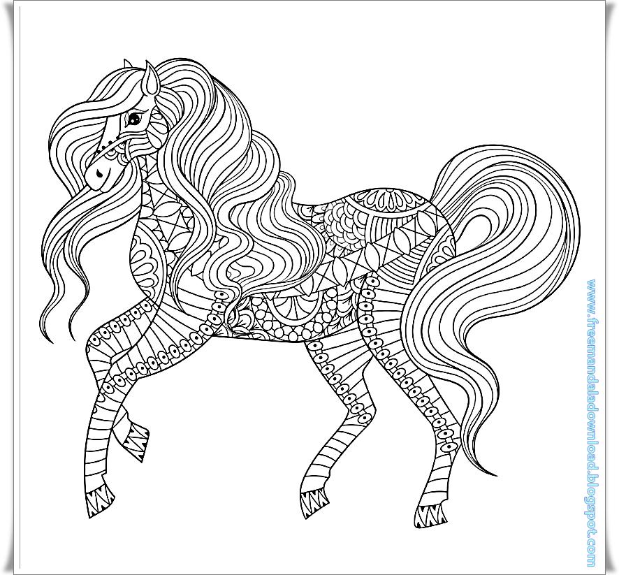 animalhors mandalatierhors  free mandala