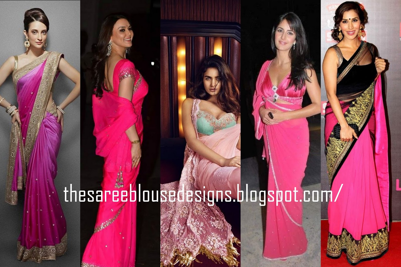 a762d71942c81 Saree Blouse Designs  What Type of Blouse to Pair with Pink Sarees