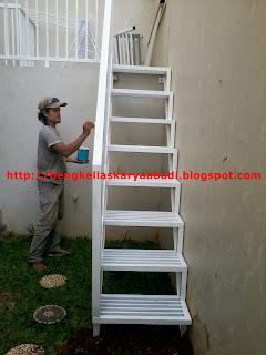 proses pekerjaan tangga besi