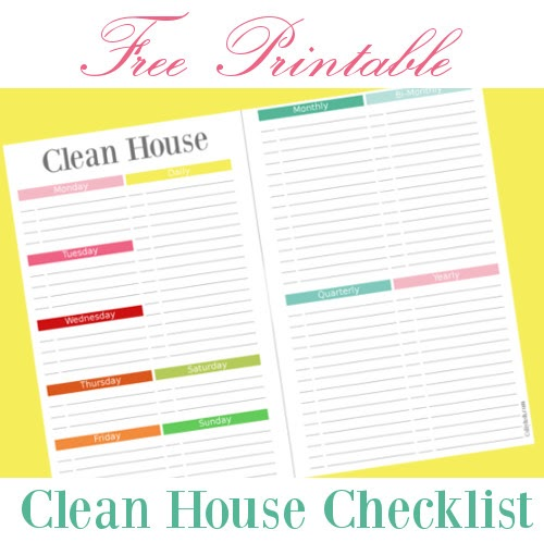 cleaning house checklist