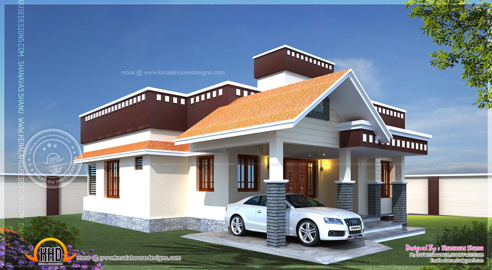 Home plan of small house kerala home design and floor plans Home design and estimate
