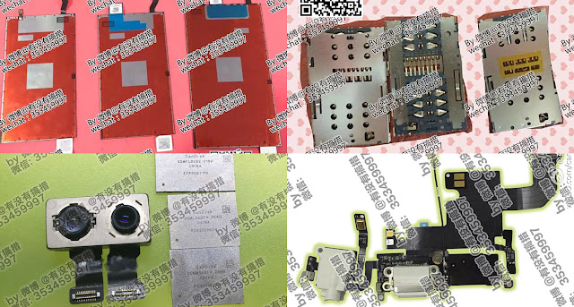 Rock Fix, a smartphone repair shop based in China's Ganzhou, has posted photos of alleged iPhone 7 components including dual SIM card tray for the iPhone 7, a headphone jack, dual lens camera, and 256GB of storage