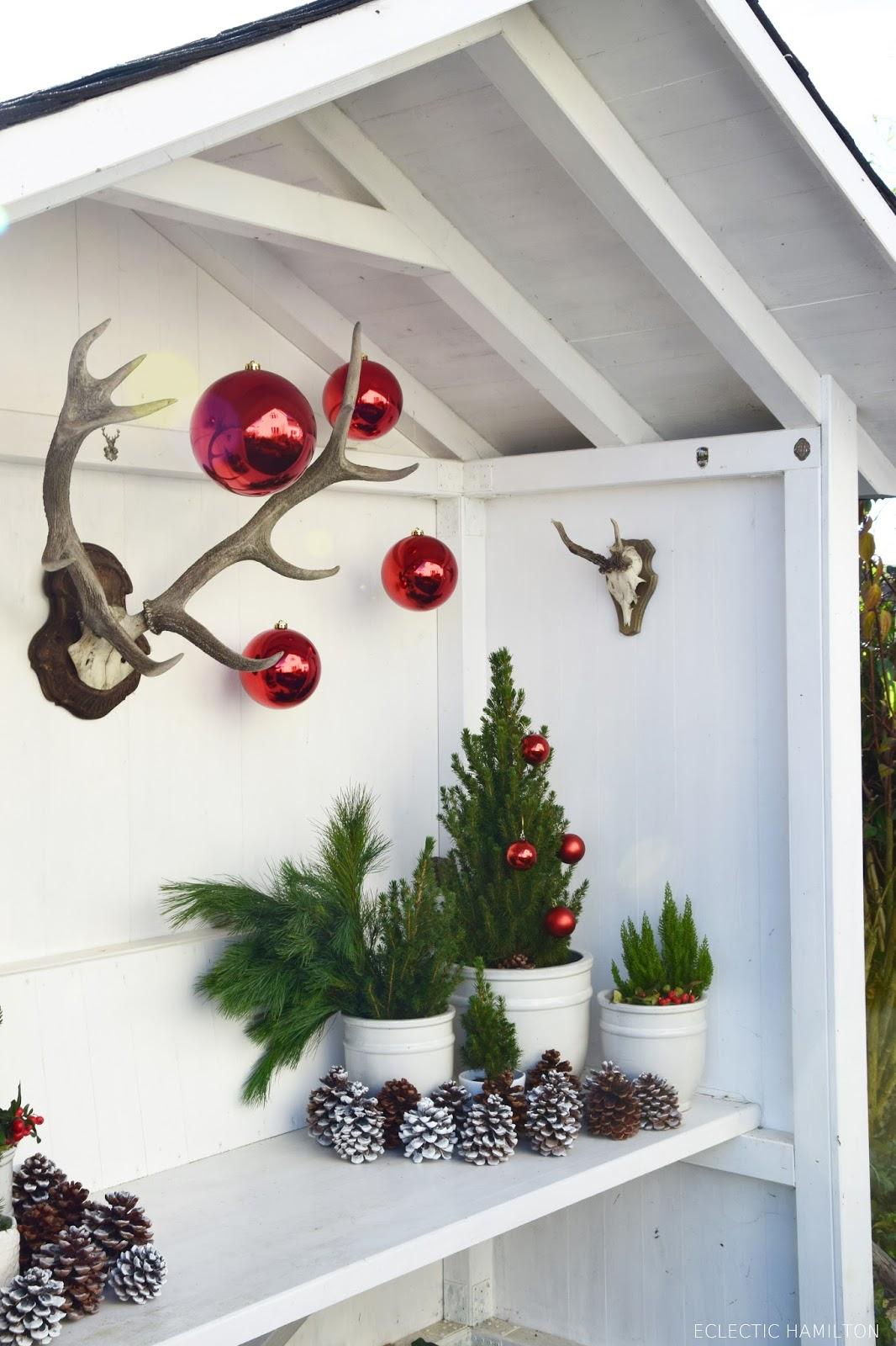 weihnachtsdeko vor haust re ostseesuche com. Black Bedroom Furniture Sets. Home Design Ideas