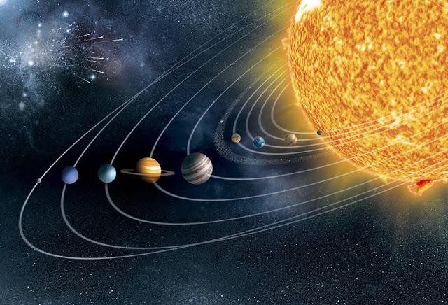 3D Tapetti Avaruus tapetti aurinkokunta aurinko planeetat