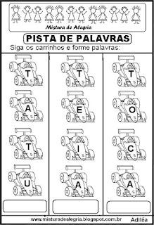 Formando palavras com a letra T