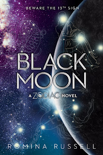 Black Moon by Romina Russell the third book in the Zodiac quartet