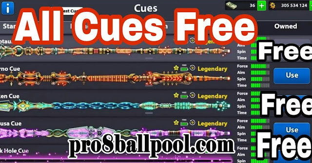 Get All Legendary Free In 8 ball Pool