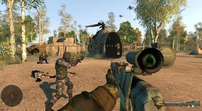 Gameplay Chernobyl Commando iSO