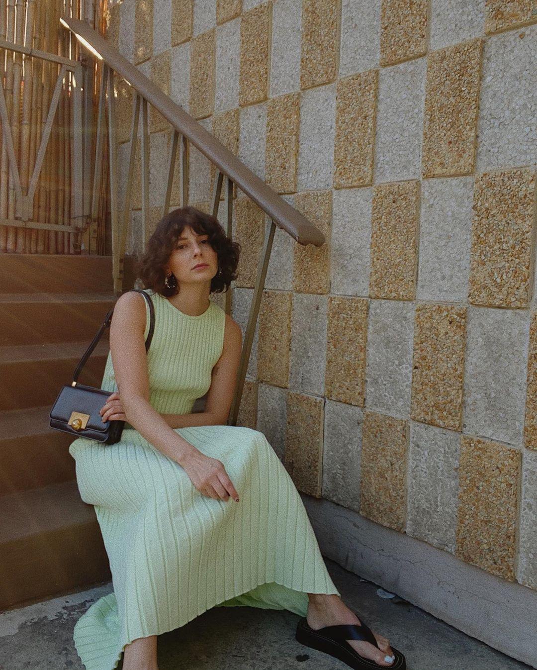 Alyssa Coscarelli's Ribbed Dress Look Is Perfect