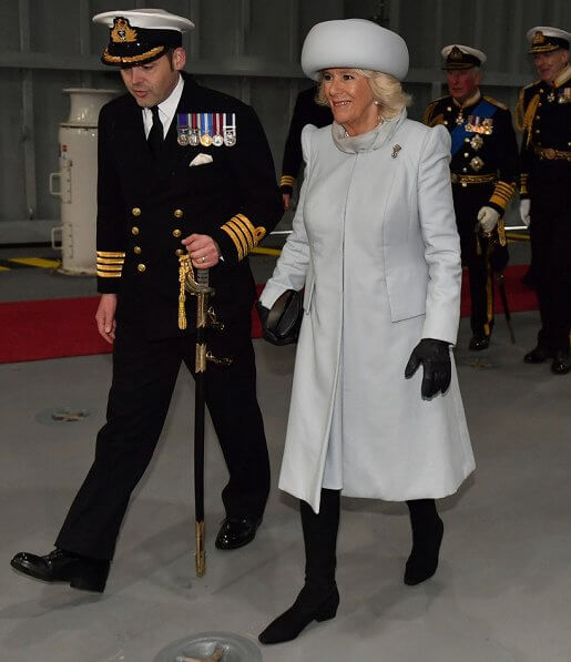 The Prince of Wales and The Duchess of Cornwall attended the commissioning ceremony of the aircraft carrier HMS Prince of Wales