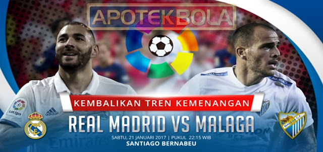 Prediksi Pertandingan Real Madrid vs Malaga 21 Januari 2017