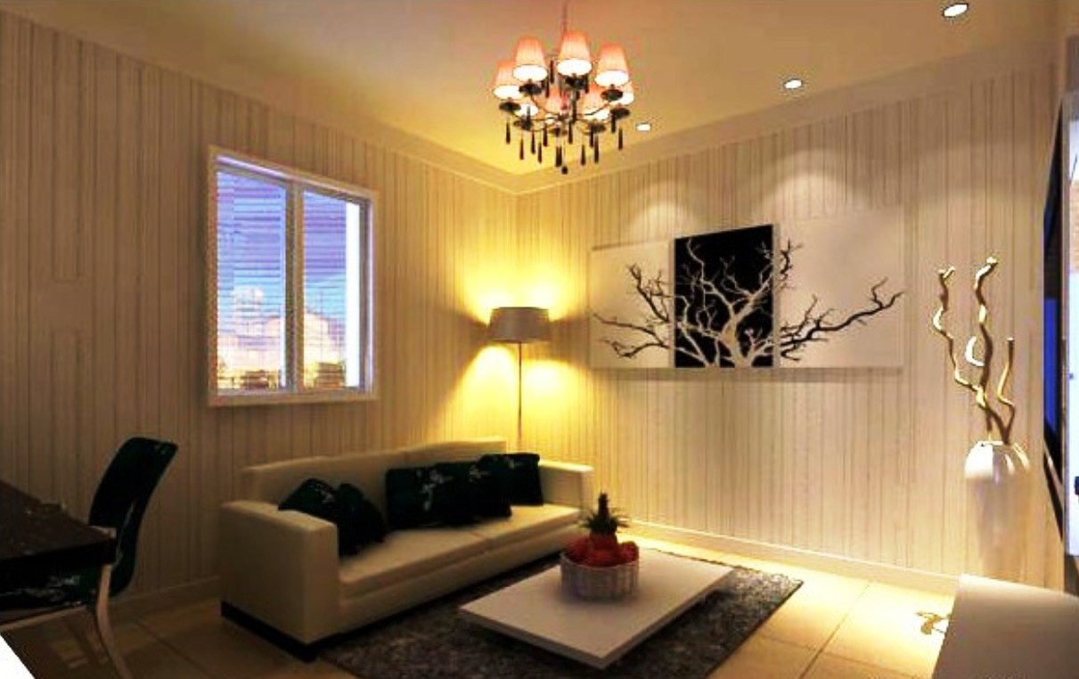 How to choose lighting effect for your living room for Room design with light