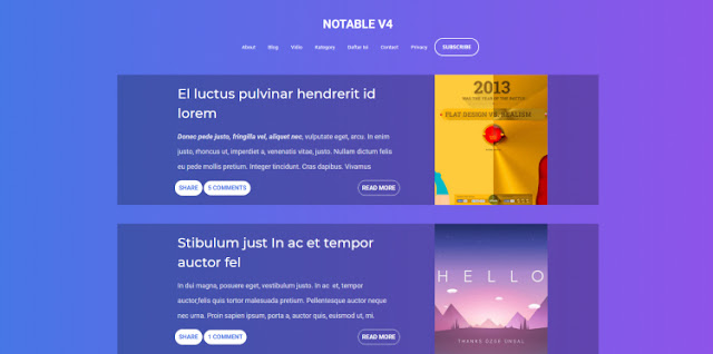 Notable v4 Blogger Template