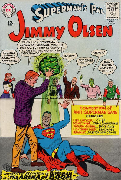 Episode #386 Part I: Superman Family Comic Book Cover Dated September 1965: Superman's Pal Jimmy Olsen #87!