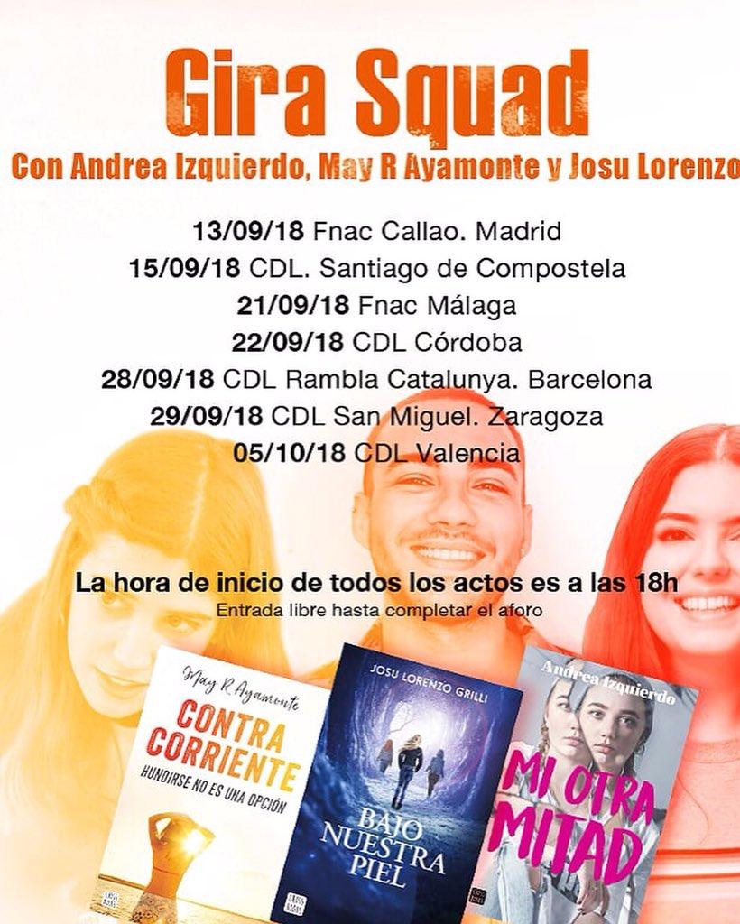 M sica en todo su esplendor gira squad may andreo rowling y josu diamond - Casa del libro barcelona rambla catalunya ...