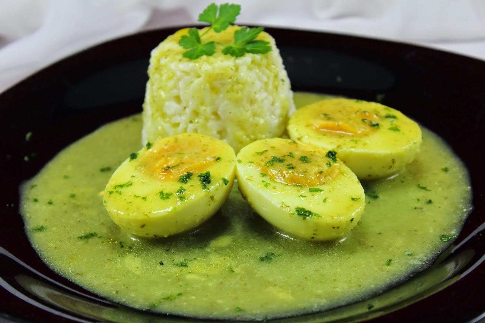 Huevos en salsa verde Thermomix