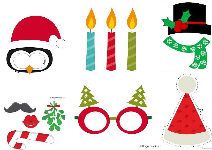 Simp ticos complementos para photo booth de navidad para - Imagenes de navidad para imprimir gratis ...