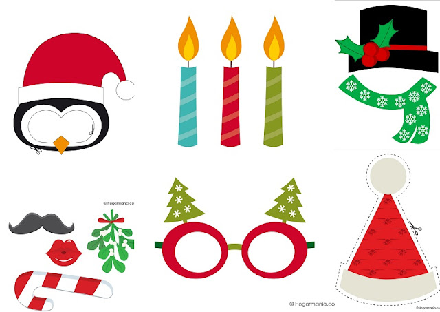 Nice Free Printable Christmas Photo Booths