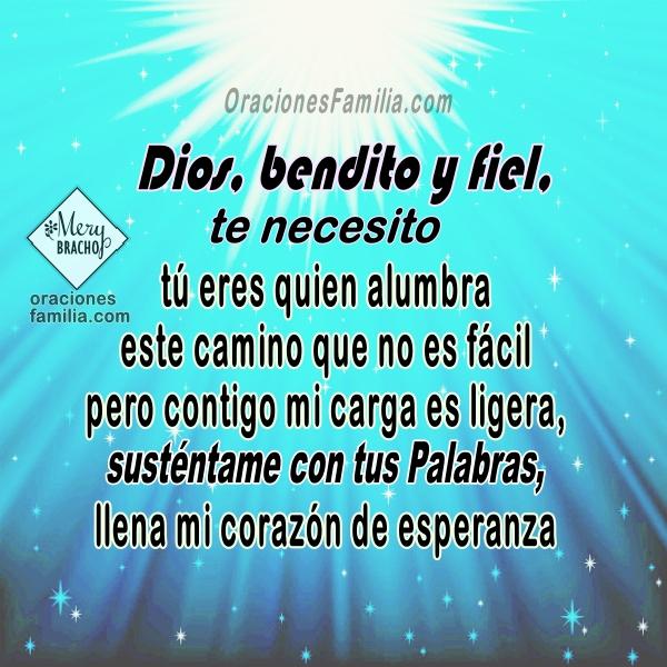 Oración para que Dios me ayude, oraciones cristianas en momentos difíciles, plegaria para iniciar este día, Oraciones por Mery Bracho.
