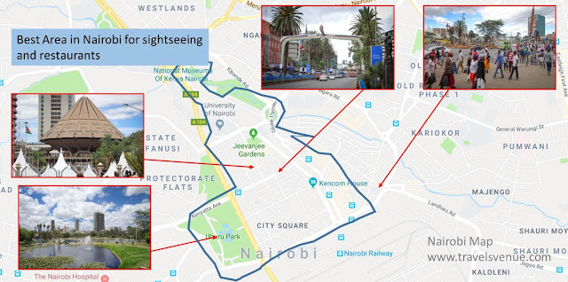 Nairobi Tourist Map