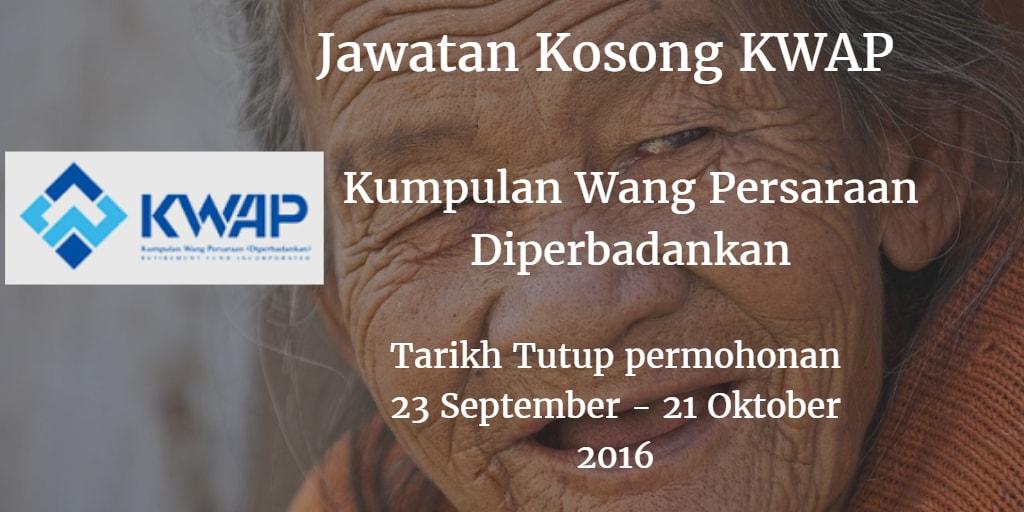 Jawatan Kosong KWAP 23 September - 21 Oktober 2016