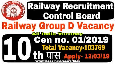 Railway Group D Recruitment 2019