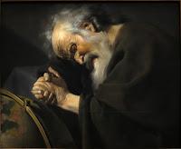 Héraclite, tableau d'Utrecht Moreelse vers 1630