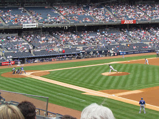 First pitch, Rangers vs. Yankees