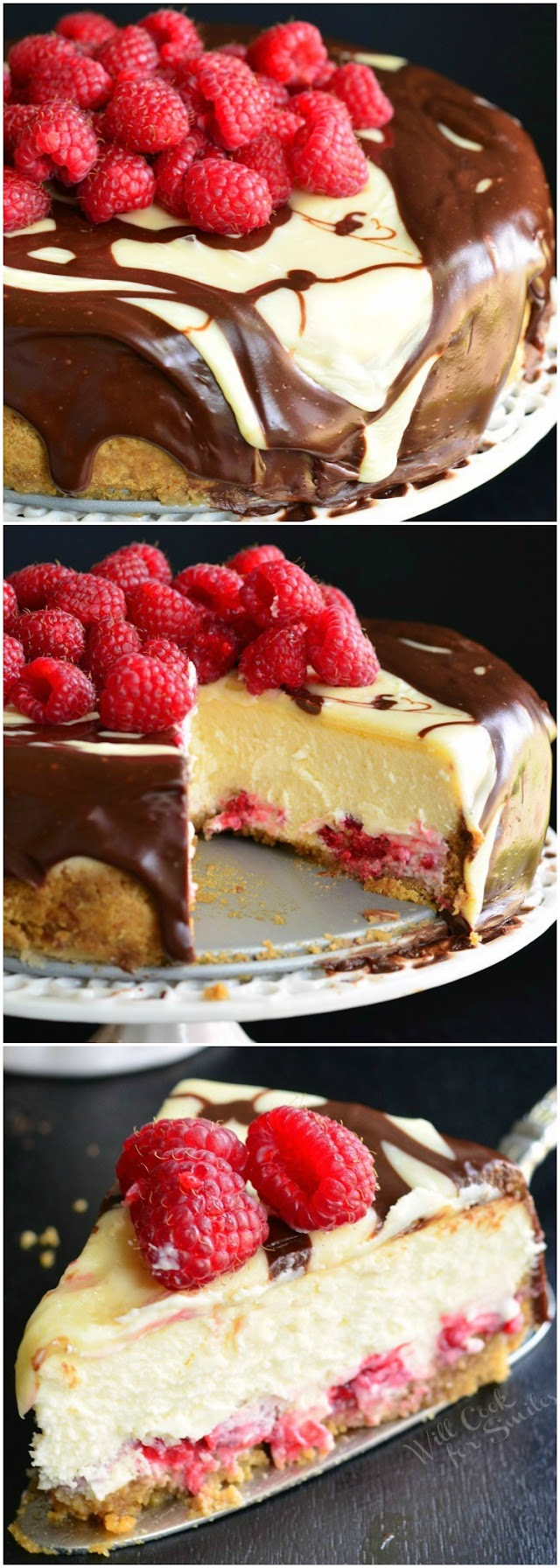 Double Chocolate Ganache and Raspberry Cheesecake Recipe