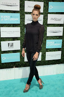 Ashley Greene sports stylish top knot at the 2015 OCRF Super Saturday in LA