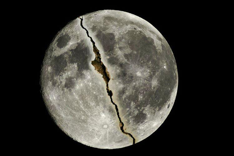Günümüzde bile Ay'da çok sert sallanmalar, yeraltı depremleri ve derin çatlaklar meydana gelmektedir.