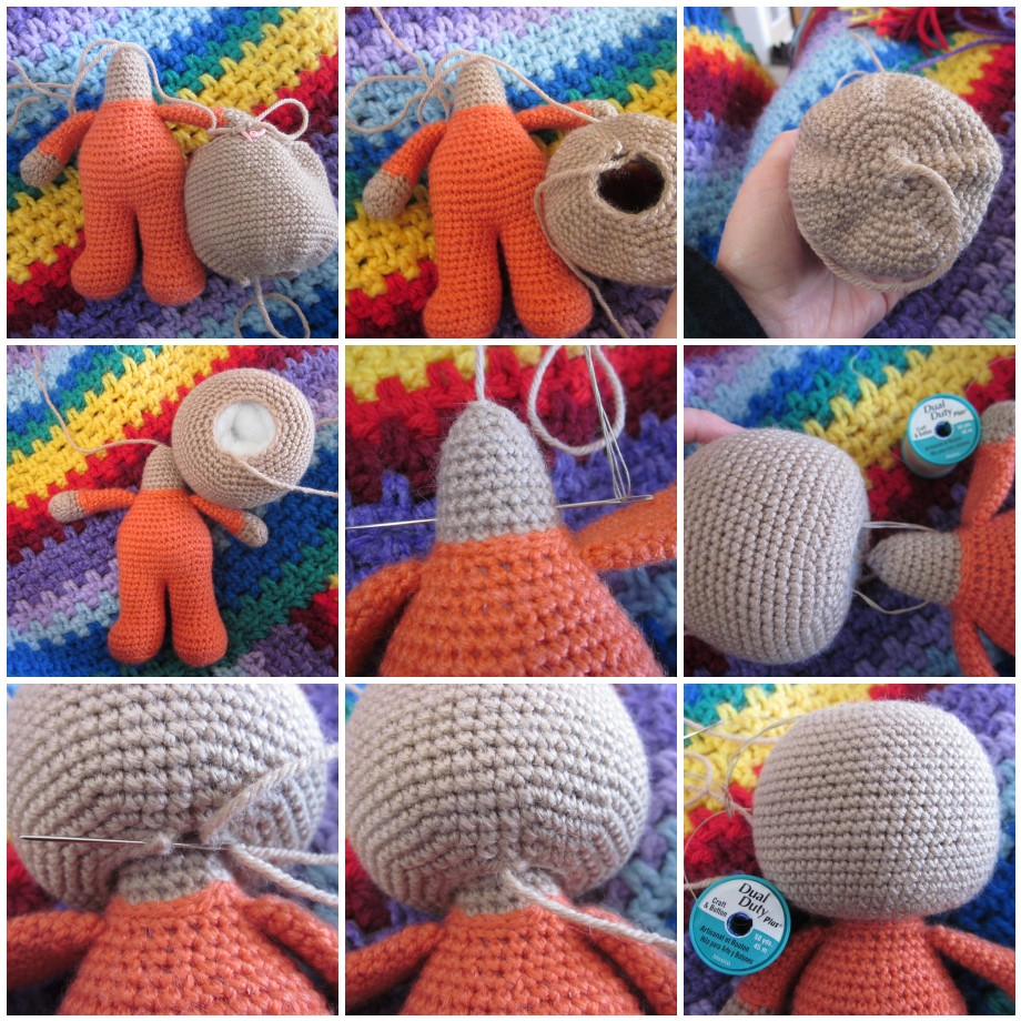 000fd36650c Almost any crochet doll pattern can be adapted to make a move-able head.